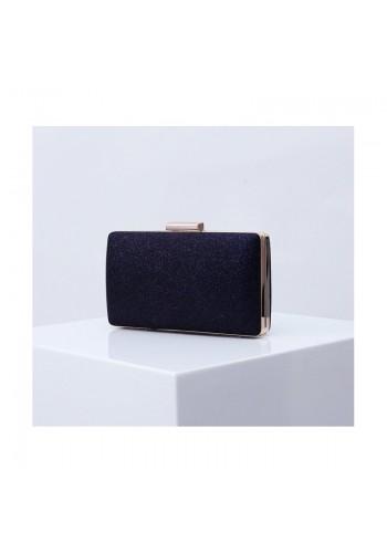 Třpytivá dámská kabelka tmavě modré barvy