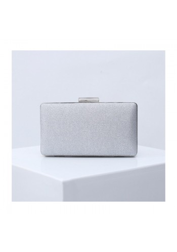 Dámské třpytivé kabelky ve stříbrné barvě
