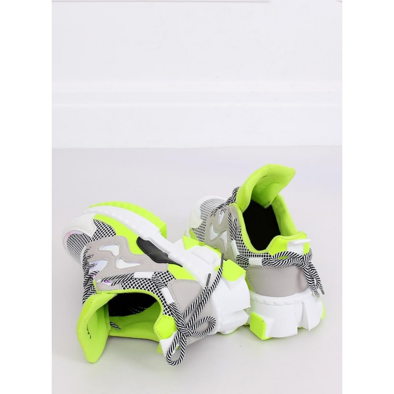 Zelené stylové tenisky na masivní podrážce pro dámy