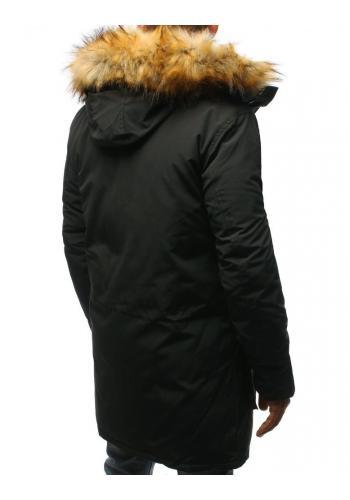 Tmavě šedá zimní Parka s kapucí pro pány