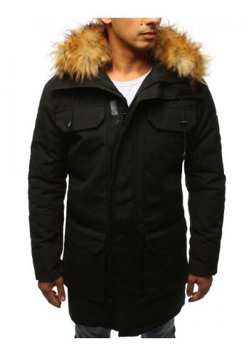 Černá zimní Parka s kapucí pro pány