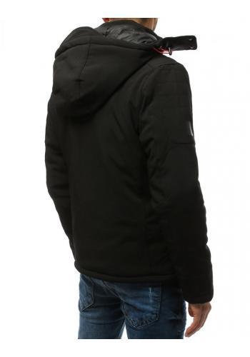Pánská softshell bunda na zimu v černé barvě