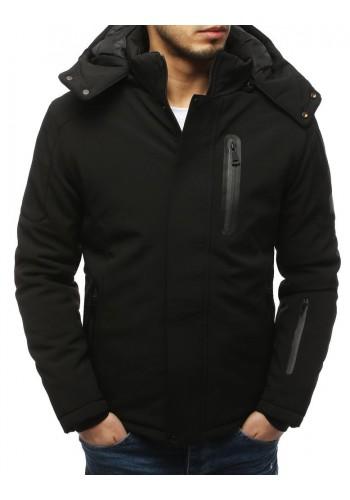 Černá softshell bunda na zimu pro pány