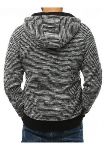 Sportovní pánská mikina světle šedé barvy s potiskem