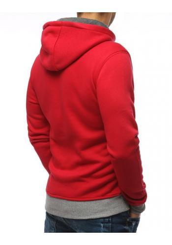 Červená módní mikina s potiskem pro pány