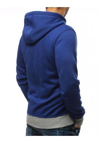Módní pánská mikina modré barvy s potiskem
