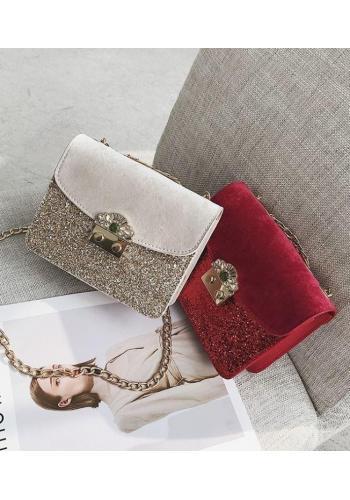 Černá elegantní kabelka s třpytivou částí pro dámy