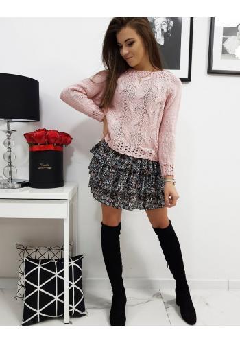 Růžový módní svetr pro dámy