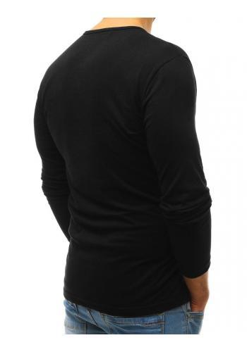 Pánské bavlněné trička s dlouhým rukávem v šedé barvě
