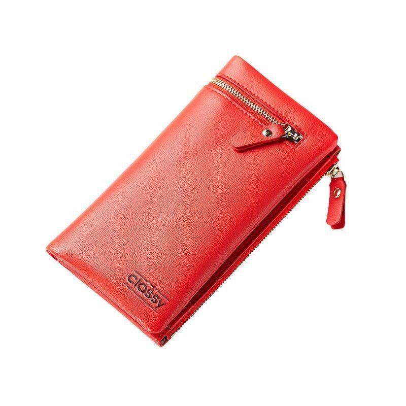 Elegantní dámská peněženka šedé barvy