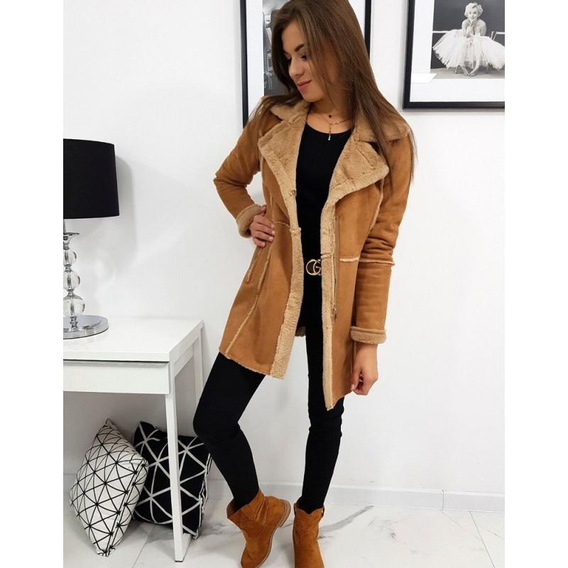 Hnědý zimní kabát pro dámy
