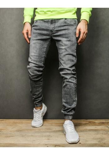 Pánské stylové Joggery v šedé barvě