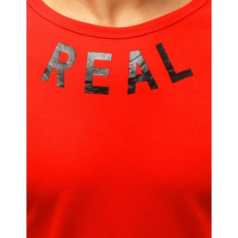 Sportovní pánské tričko červené barvy s potiskem