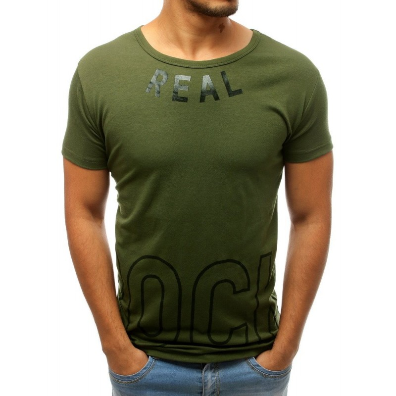 Zelené sportovní tričko s potiskem pro pány