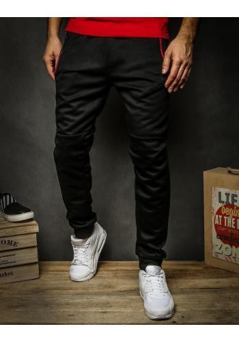 Pánské módní tepláky v černé barvě