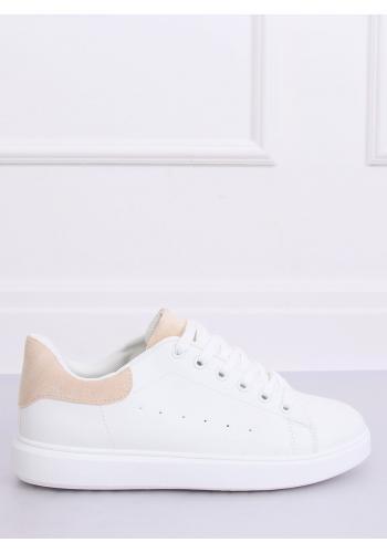 Klasické dámské tenisky bílé barvy s béžovými vložkami pro dámy