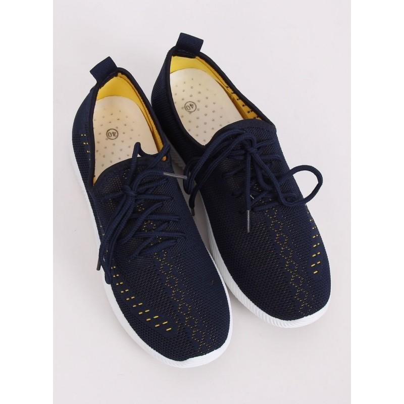 Lehké dámské tenisky tmavě modré barvy s ažurovým vzorem