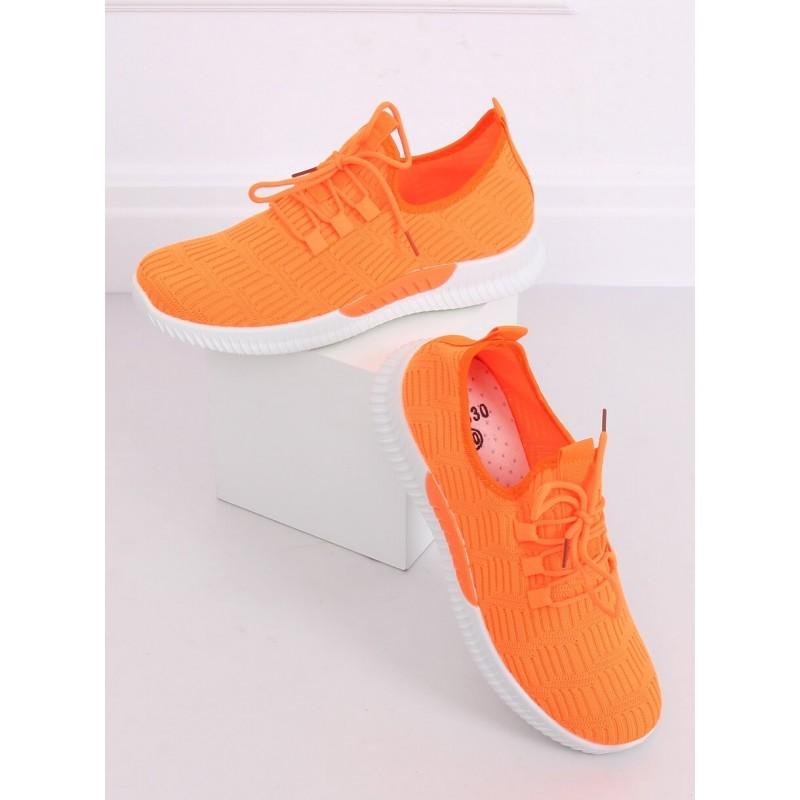 Dámské sportovní tenisky v oranžové barvě