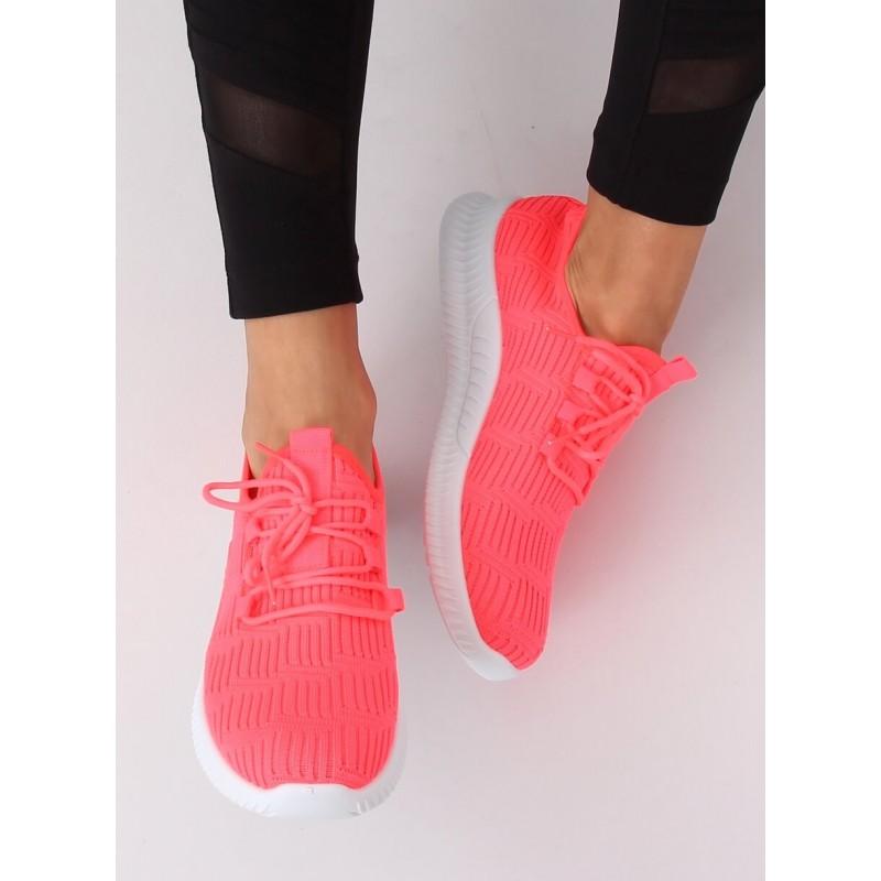 Neonově růžové sportovní tenisky pro dámy