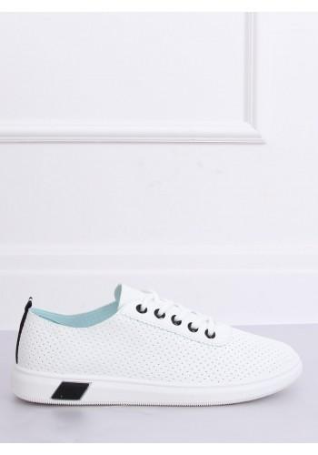 Dámské dírkované tenisky v bílo-černé barvě