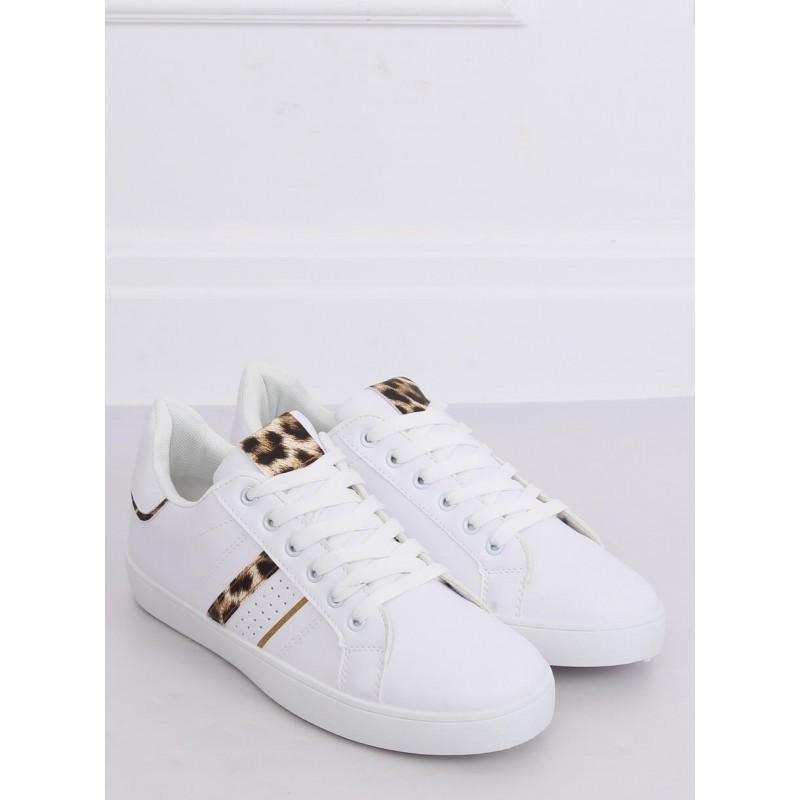Klasické dámské tenisky bílé barvy s leopardím potiskem