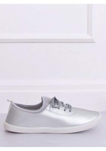 Stříbrné módní tenisky s neoprenovými vložkami pro dámy