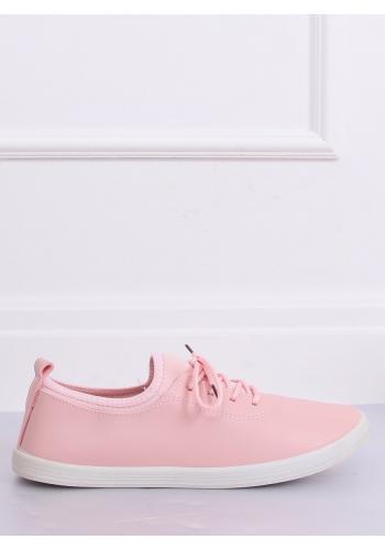 Módní dámské tenisky růžové barvy s neoprenovými vložkami
