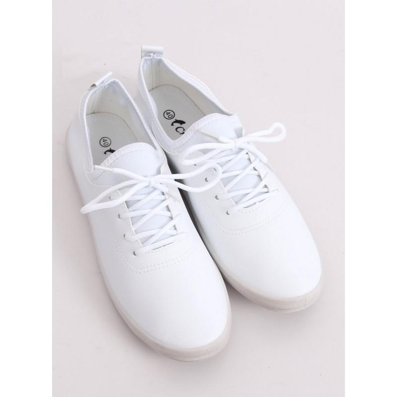 Bílé módní tenisky s neoprenovými vložkami pro dámy