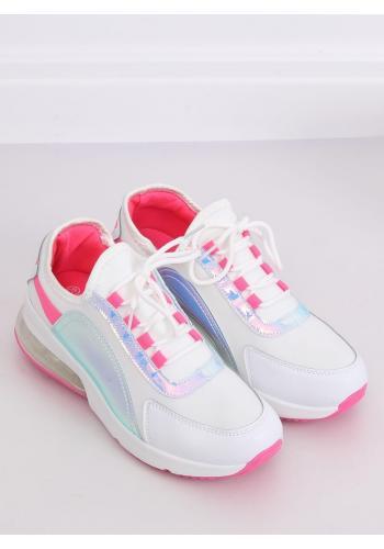 Stylové dámské tenisky bílo-růžové barvy s holografickými prvky