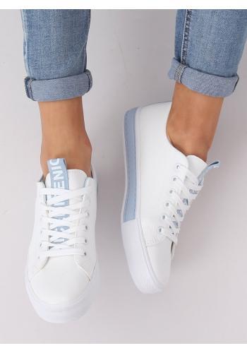 Dámské klasické tenisky v bílo-modré barvě