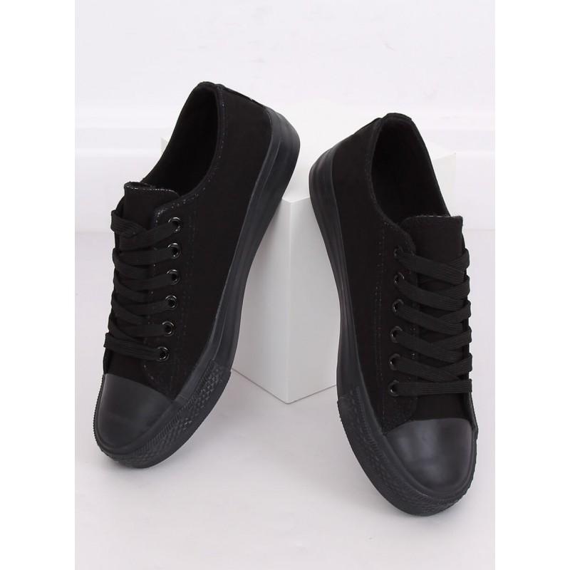 Dámské plátěné tenisky v černé barvě