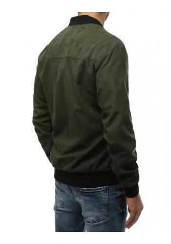 Jarní pánská Bomber bunda zelené barvy