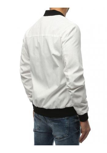 Pánská jarní Bomber bunda v bílé barvě