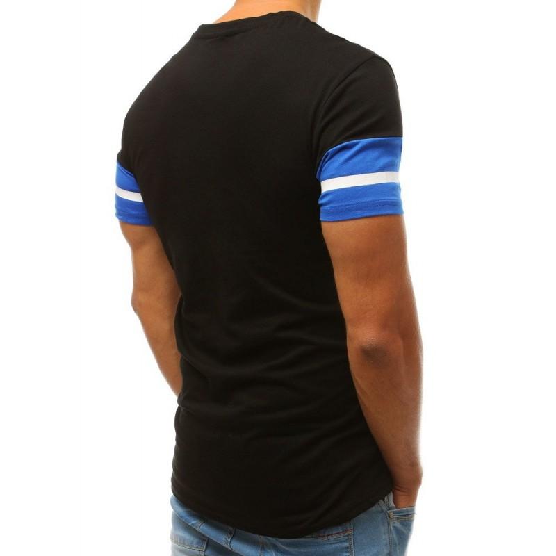 Bavlněné pánské tričko černé barvy s potiskem