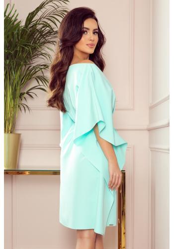 Mátové módní šaty s páskem pro dámy