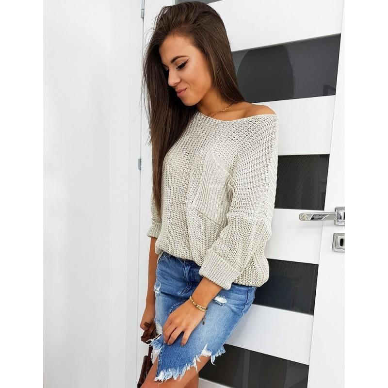 Béžový oversize svetr pro dámy