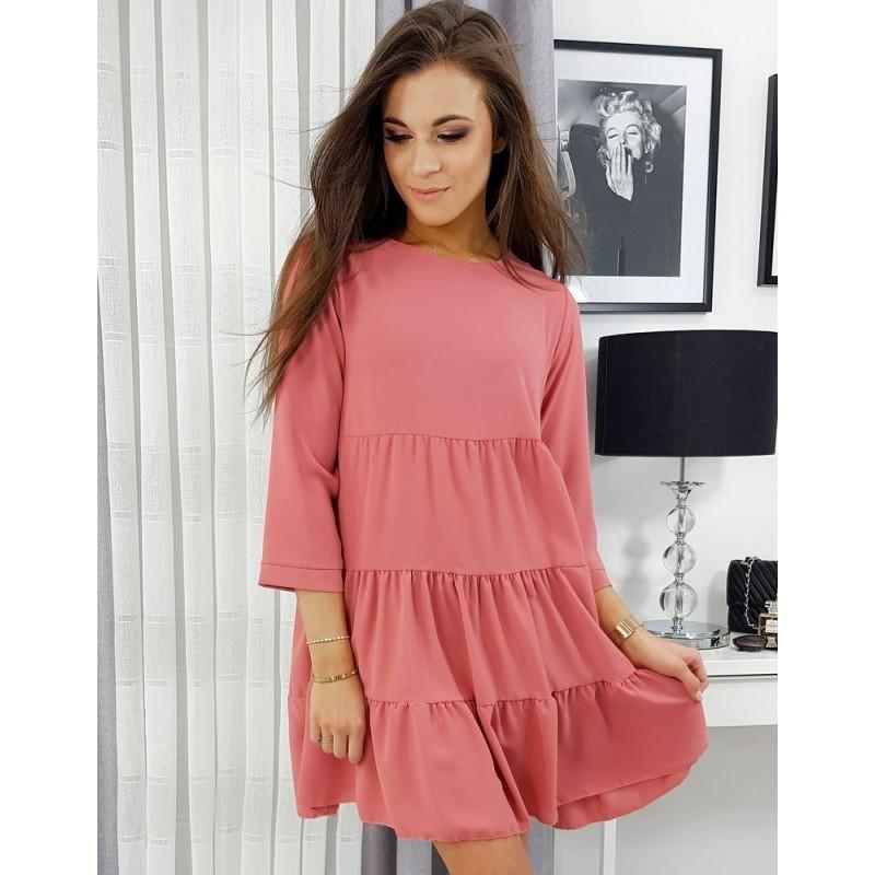 Malinové volné šaty pro dámy