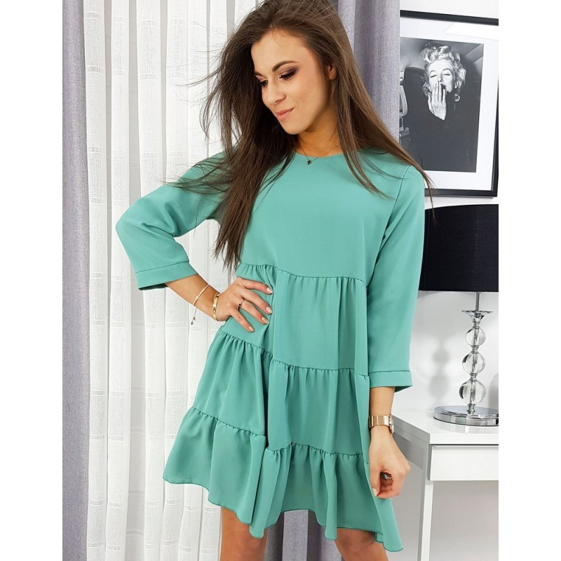 Volné dámské šaty mátové barvy