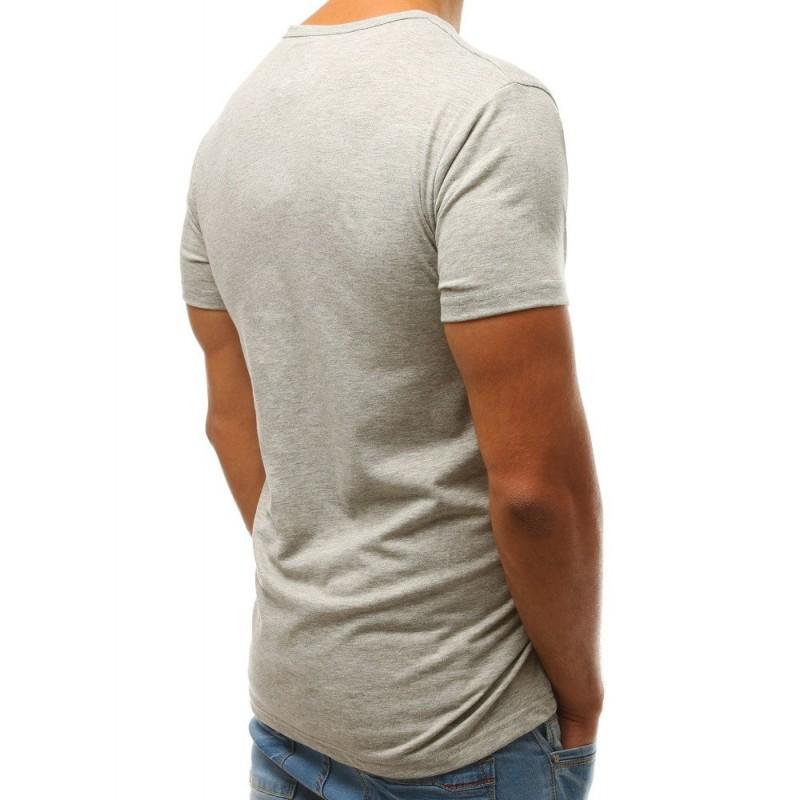 Módní pánské tričko šedé barvy s potiskem