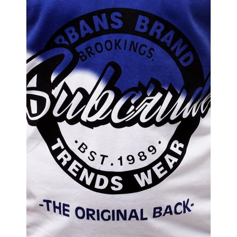 Modré sportovní tričko s potiskem pro pány