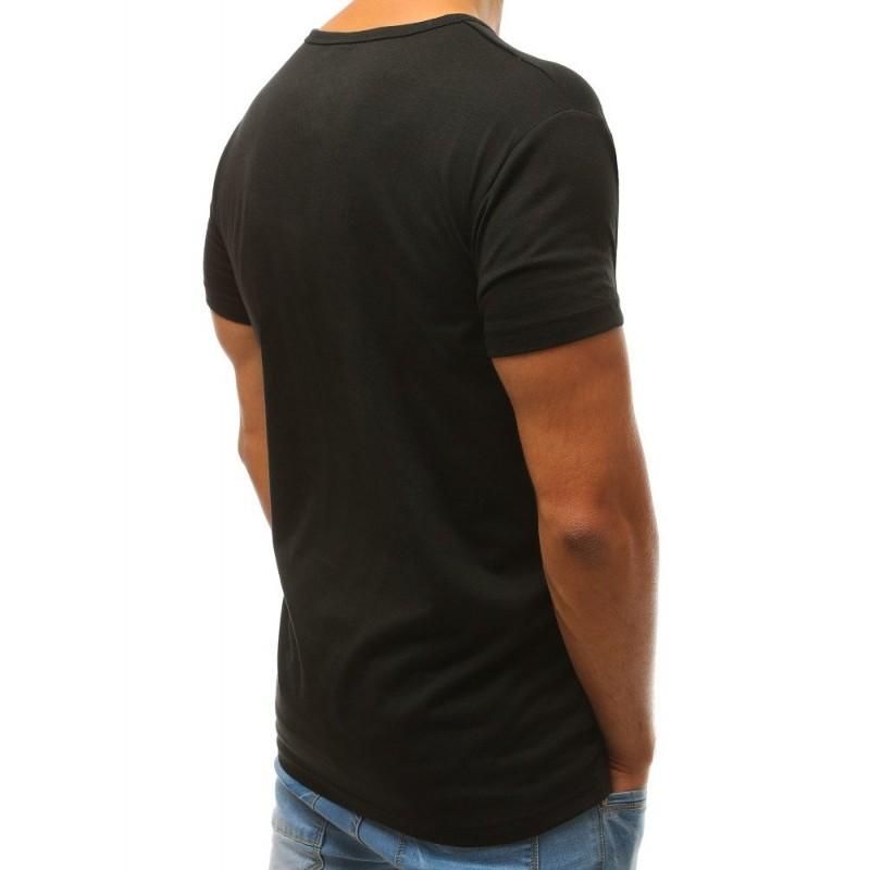 Sportovní pánské tričko černé barvy s potiskem