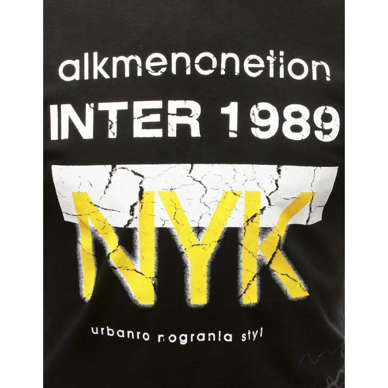 Stylové pánské tričko černé barvy s potiskem