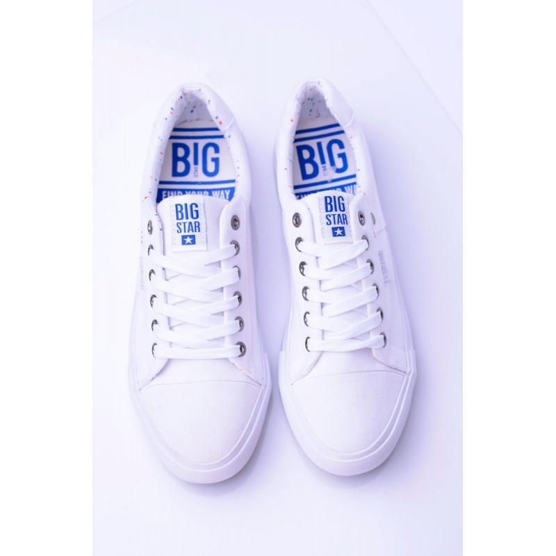 Klasické pánské tramky Big Star bílé barvě