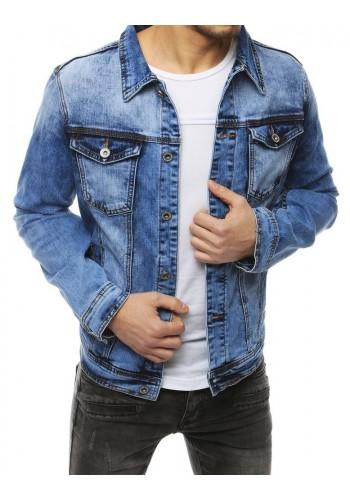 Pánská riflová bunda v světle modré barvě