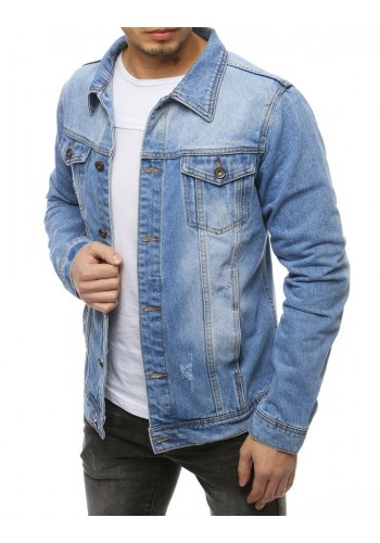 Riflová pánská bunda světle modré barvy