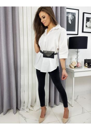 Oversize dámská košile bílé barvy