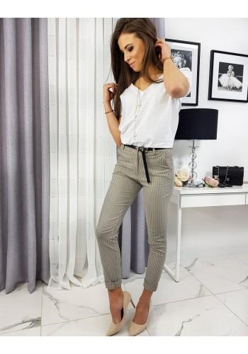 Béžové vzorované kalhoty pro dámy
