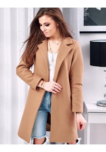 Hnědý módní kabát pro dámy