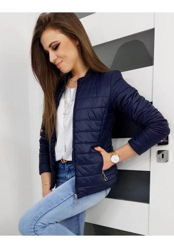 Prošívaná dámská bunda tmavě modré barvy na jaro