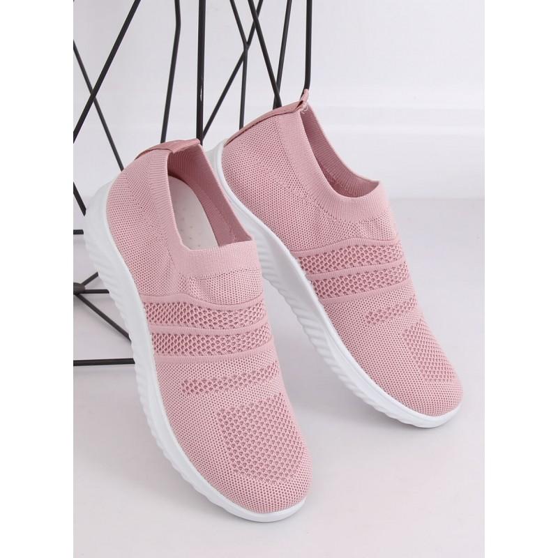 Růžové sportovní tenisky s pružnou podrážkou pro dámy